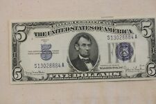 1934-D $5 DOLLAR SILVER CERTIFICATE NOTE>>> UNCIRCULATED