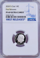 2020 S Proof 10C Clad Roosevelt Dime NGC PF69 ULTRA CAMEO FR Blue Label