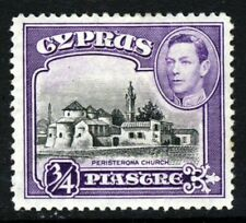 CYPRUS King George VI 1938 ¾ Piastre Black & Violet SG 153 MINT