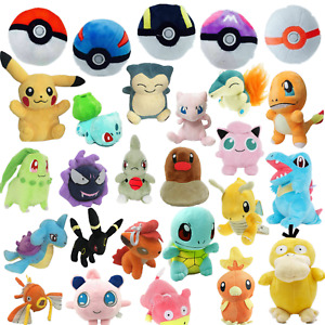 Kids Pokemon Collectible Plush Character Soft Toy Stuffed Doll Teddy Gift UK