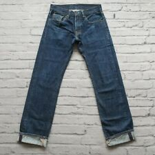 Vintage Levis recta Hesher Orillo Denim Jeans Tamaño 28 29 Neppy