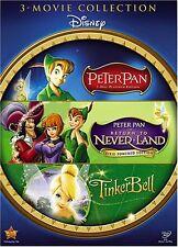 Peter Pan Return to Neverland Tinkerbell 3 DVD Trilogy