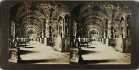 Italia Roma Il Vaticano Le Librerie, Foto Stereo Vintage Analogica PL60OYL5