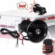 7Sounds 100W Car Electronic Warning Siren Alarm Police Ambulance Loudpeaker Horn