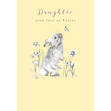 Daughter With Love Cute Bunny Easter Greeting Card Lovely Greetings Cards