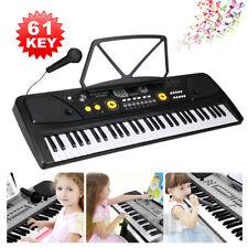 Keyboard With Stand Digital Piano Electric 61 Key Music Organ Electronic Mic