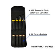 1 Aplus Nylon Case Pouch Holder for AA and AAA Battery W/ 4 AAA to AA Converters