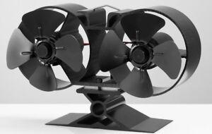 New For 2022 Mini Heat Powered Stove Fan + Free Thermometer New Mini 8 Blade Fan