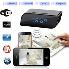 Wireless Wifi IP 1080P HD Clock Camera Spy Hidden IR Home Security Network DVR