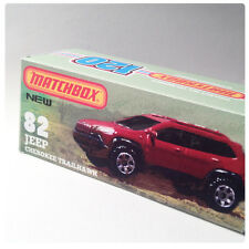 CUSTOM UNIQUE 120 BOX | Matchbox | JEEP CHEROKEE TRAILHAWK | BOX ONLY