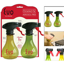 2 EVO Mini Oil Sprayer BPA Free Spray Bottle Cooking Olive Oil Trigger Grill 8oz