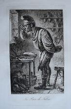 La Prise de Tabac BENJAMIN ZIX EAU FORTE Gravure INFOLIO 1808