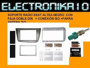 MARCO SOPORTE  radio SEAT ALTEA+ KIT CONEXION ISO 2DIN +KIT +FAKRA ANTENA