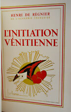 L'Initiation vénitienne REGNIER 1929  GEORGE LEPAPE 120 ex. MAROQUIN DOUBLÉ