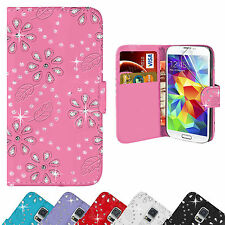 Bling Diamante Leather Diamond Wallet Case Cover For Galaxy S3 S4 S5 Mini Ace