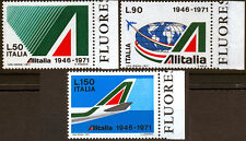 REP. IT. 1971 ALITALIA BORDO DI FOGLIO (G) SERIE COMPLETA 3 VAL.