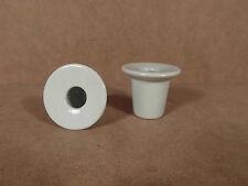 2 encriers en porcelaine pour pupitre banc école