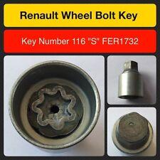 "Genuine Renault locking wheel bolt / nut key FER1732  116 ""S"""