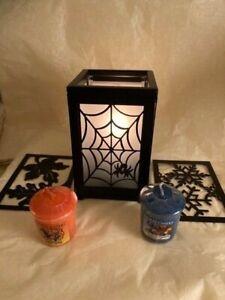 B/N Partylite Luminary/Votive holder & Yankee Candle Halloween Votives