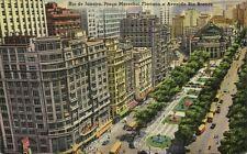 brazil, RIO DE JANEIRO, Praca Marechal Floriano e Avenida Rio Branco (1930s)