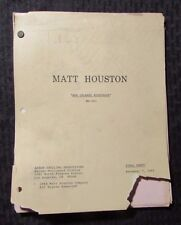 "1984 MATT HOUSTON TV Script ""New Orleans Nightmare"" Final Draft 56pgs VG- (B)"
