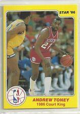 Andrew Toney 1986 Star Company Philadelphia 76ers Court Kings NBA Card #29/33