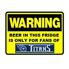 128 Beer Fridge Tennessee Titans NFL Football Warning Refrigerator Magnet