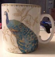 222 Fifth Peacock Garden oversize coffee/soup mug New