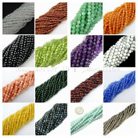 Natural Gemstones 2mm 3mm Faceted Round Loose Beads 15.5'' Jewelry Design Crafts