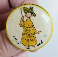 "1896 High Admiral Cigarettes Yellow Kid #25 Pin Golfer 1.25"" Pinback Button"