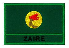 Ecusson patche patch drapeau Zaïre Zaire 70 x 45 mm Pays Afrique brodé