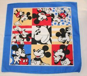 VTG Color Block Walt Disney Mickey Mouse Woronowicz 50/50 Handkerchief Bandana