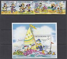CAICOS ISLANDS :1984 Easter (Disney) set + M/Sheet SG 50-3 +MS 54 MNH