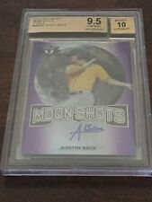 AUSTIN BECK 2017 Leaf Valiant Moon Shots Purple Auto 13/15  BGS 9.5/10 Athletics