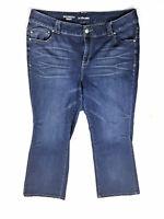 LANE BRYANT Plus Size 20 Petite Medium Wash Blue Boot Cut Jeans