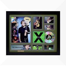 Ed Sheeran Signed & Framed Memorabilia - 1CD - Green/Black Edition