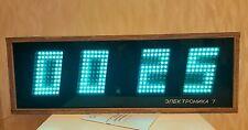 CLOCK ELEKTRONIKA 7-06K HUGE USSR SOVIET WOODEN WALL NIXIE VFD TUBE CLOCK