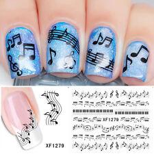 Nail Art Set  Musical Sheet Music Note Water Transfer/Decal/Stickers Pop