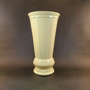 "Royal Haeger 11"" Ivory Cream Neoclassical Vase Restoration Hardware"