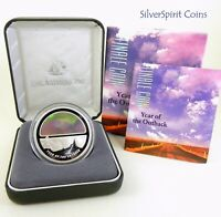 2002 FINALE YEAR OF THE OUTBACK 1oz SILVER Proof Coin