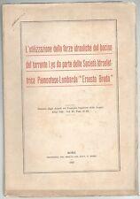 BACINO TORRENTE LYS Società Idroelettica Ernesto Breda 1922 DIGHE VAL D'AOSTA