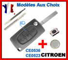 Coque Clé Pour CITROEN C1/C2/C3/C4 Picasso/C5/C6 3 Bouton Phare CE0523 CE0536