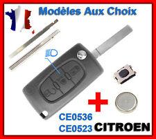 Key case for citroen c1/c2/c3/c4 picasso/c5/c6 3 ce0523 ce0536 headlight button