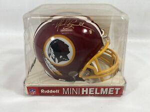 Mark Brunell Autograph Washington Redskins Mini Riddell Helmet  COA
