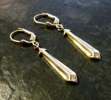 Goldohrringe Bergkristall 585er Gold 14 Karat Gelbgold Ohrringe Ohrhänger 4,5 cm
