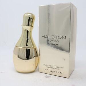 Amber Women by Halston Eau De Toilette 1.7oz/50ml Spray New With Box