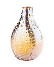 "New 12"" Hand Blown Art Glass Teardrop Vase Bottle Amber Decorative"