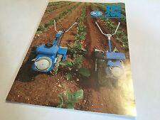 BCS 201 205 Rotavator 2-wheel Tractor Tracmaster Original 1980s Brochure