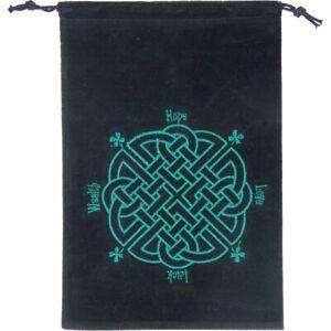 Black Velveteen Celtic Knot Tarot, Crystal or Rune Bag!