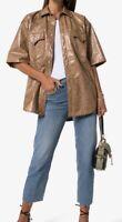 Nanushka Vegan Leather Snake Shirt/jacket. Large. PG344